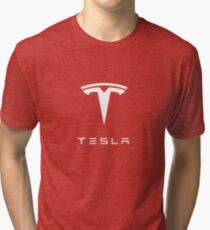 Tesla Logo Merchandise Tri-blend T-Shirt