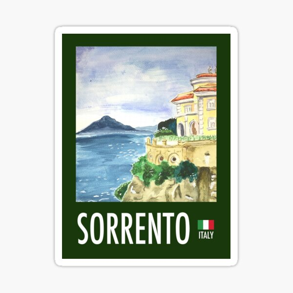 Vintage Travel Poster: Sorrento  Sticker