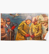 Maelstrom Mural - Kids Fishing Poster