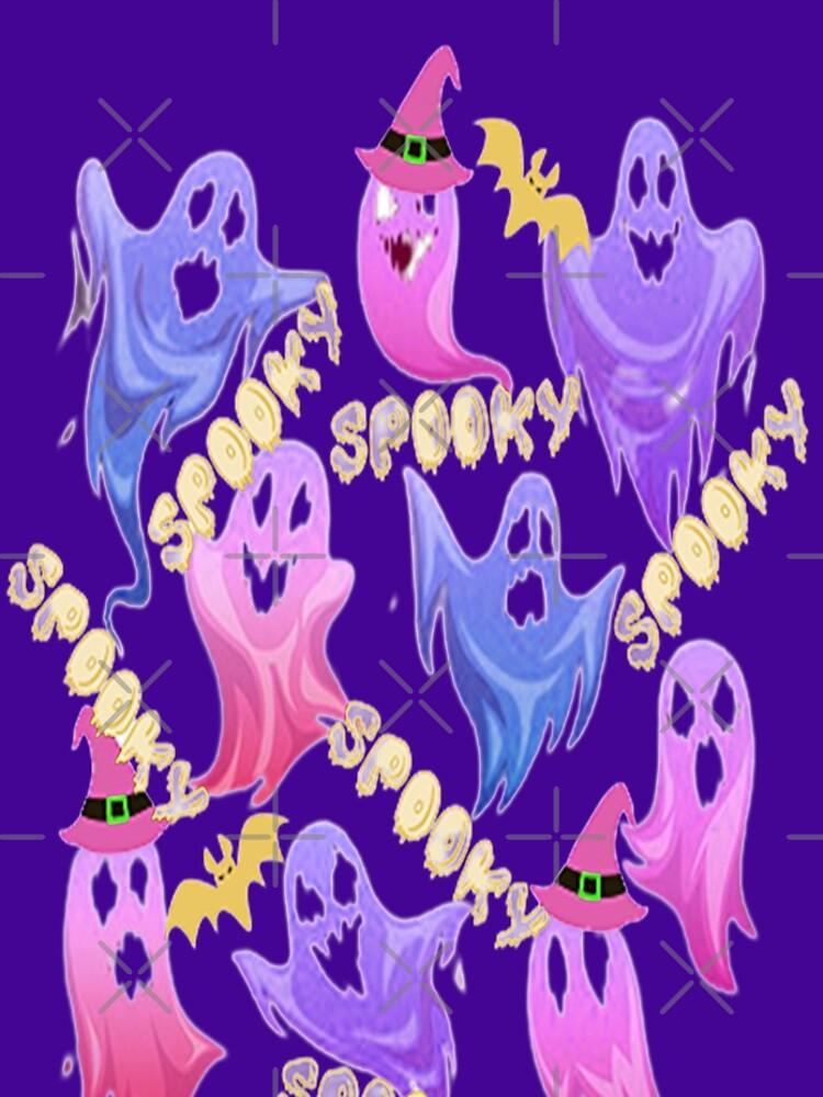 Spooky Halloween Ghosts Spooky Halloween kawaii fun design, nr 2, Carved Pumpkin Vibes,Spooky Cat Mom Halloween by adribarnard