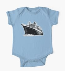 Cruise Ship, Ocean Liner, Ship, Trans Atlantic Kids Clothes