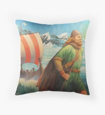Maelstrom Mural - Viking Throw Pillow