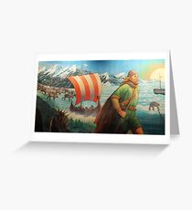 Maelstrom Mural - Viking Greeting Card