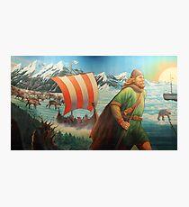 Maelstrom Mural - Viking Photographic Print