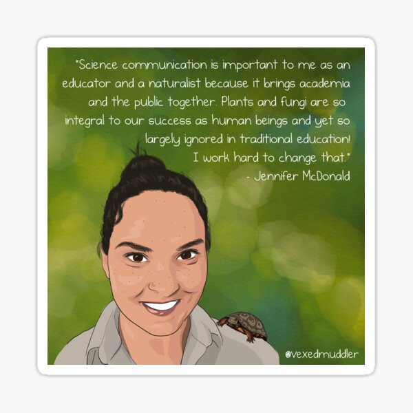 #SciComm100: Jennifer McDonald Sticker