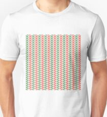 Fun green and red weave stripes for Christmas decor Unisex T-Shirt