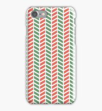Fun green and red weave stripes for Christmas decor iPhone Case/Skin