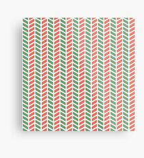 Fun green and red weave stripes for Christmas decor Metal Print