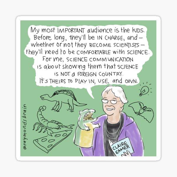 #SciComm100: Claire Eamer  Sticker