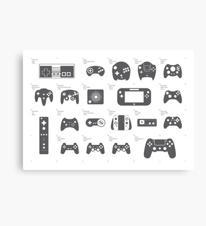 Evolution of Game Controllers Canvas Print