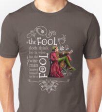 David Tennant Shakespeare Touchstone Quote Art Unisex T-Shirt