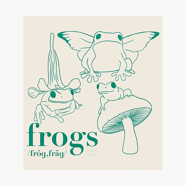 Frogs Photographic Print