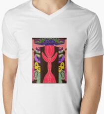 The Inspiration of The Pink Rose Men's V-Neck T-Shirt