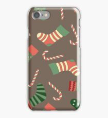 Christmas stockings and candy canes fun design  iPhone Case/Skin