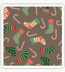 Christmas stockings and candy canes fun design  Sticker