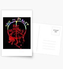 save the planet, EAT HIMANS - paint Postcards