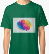 Abstract geometric human brain, triangles, creativity Classic T-Shirt