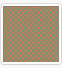 Fun Christmas red dots on green background pattern  Sticker