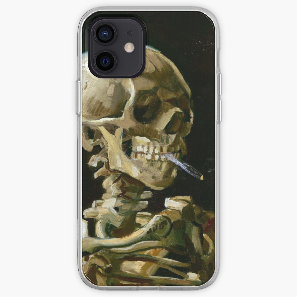 Vincent van Gogh Head of a Skeleton with a Burning Cigarette iPhone Case & Cover
