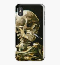 Vincent van Gogh Head of a Skeleton with a Burning Cigarette iPhone Case/Skin