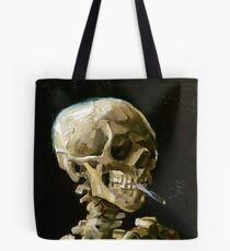 Vincent van Gogh Head of a Skeleton with a Burning Cigarette Tote Bag