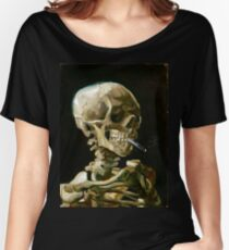 Vincent van Gogh Head of a Skeleton with a Burning Cigarette Women's Relaxed Fit T-Shirt