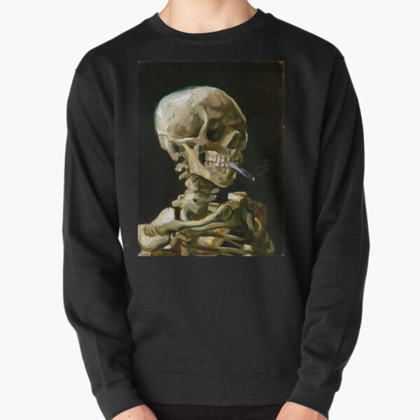 Vincent van Gogh Head of a Skeleton with a Burning Cigarette Pullover Sweatshirt