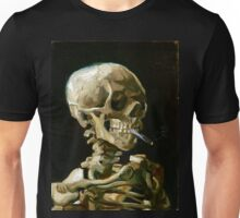 Vincent van Gogh Head of a Skeleton with a Burning Cigarette Unisex T-Shirt