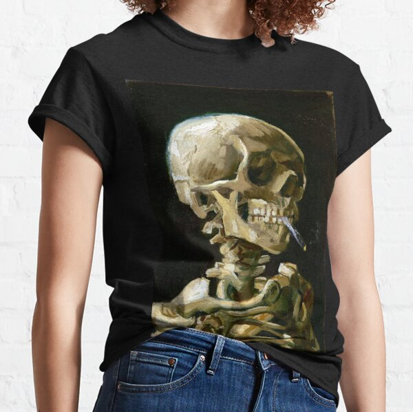Vincent van Gogh Head of a Skeleton with a Burning Cigarette Classic T-Shirt