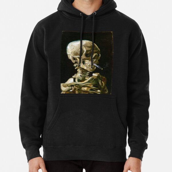 Vincent van Gogh Head of a Skeleton with a Burning Cigarette Pullover Hoodie