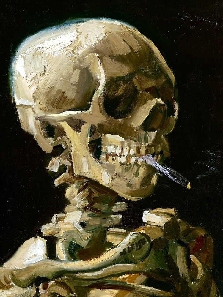 Vincent van Gogh Head of a Skeleton with a Burning Cigarette by pdgraphics