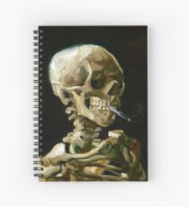 Vincent van Gogh Head of a Skeleton with a Burning Cigarette Spiral Notebook