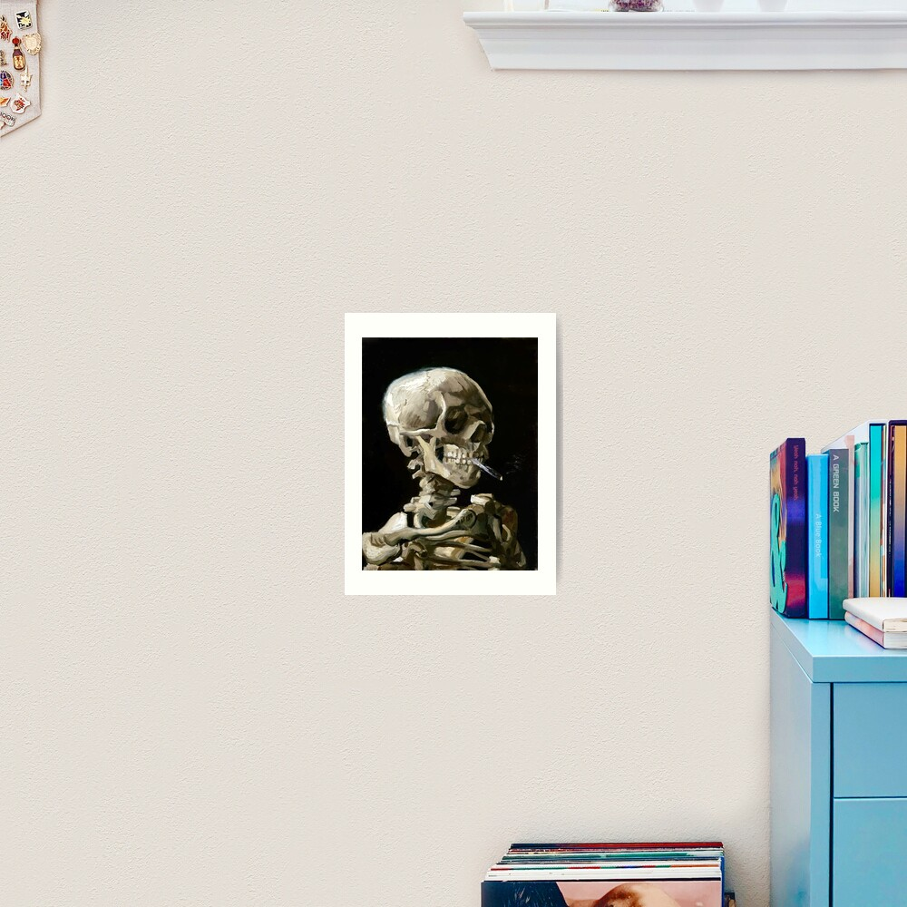 Vincent van Gogh Head of a Skeleton with a Burning Cigarette Art Print
