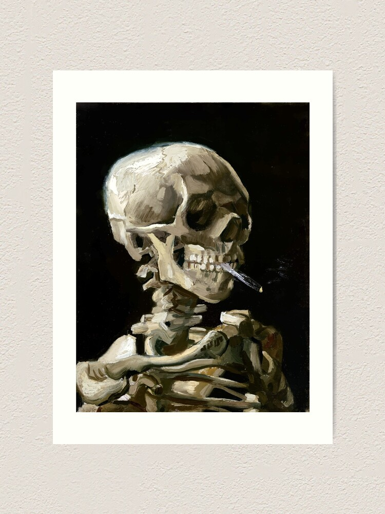 Alternate view of Vincent van Gogh Head of a Skeleton with a Burning Cigarette Art Print