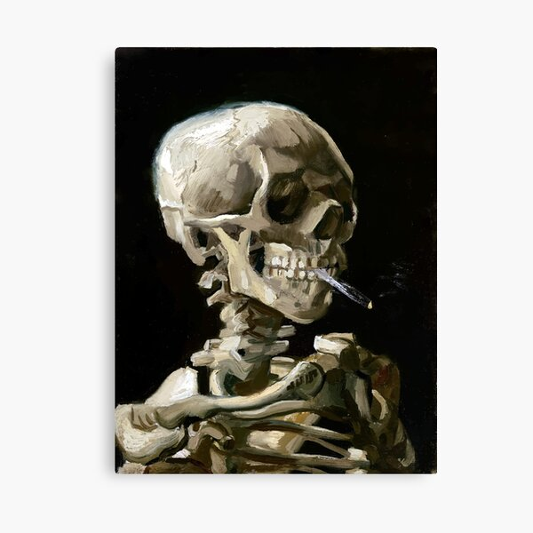Vincent van Gogh Head of a Skeleton with a Burning Cigarette Canvas Print