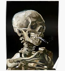 Vincent van Gogh Head of a Skeleton with a Burning Cigarette Poster