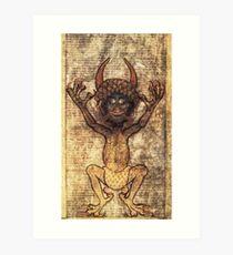 Codex Gigas Art Print