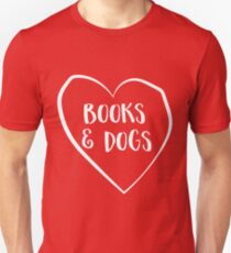 Love books and dogs Unisex T-Shirt