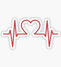 Heartbeat of Love ECG Wave Sticker