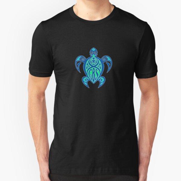 GBS Turtle Green & Blue Slim Fit T-Shirt