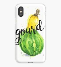 Gourd Watercolor Painting With Calligraphy iPhone Case/Skin