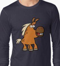 Cartoon Palomino Stud by Cheerful Madness!! Long Sleeve T-Shirt