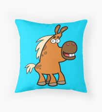 Cartoon Palomino Stud by Cheerful Madness!! Throw Pillow