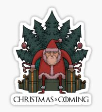 Santa Of Thrones - Christmas Is Coming Sticker