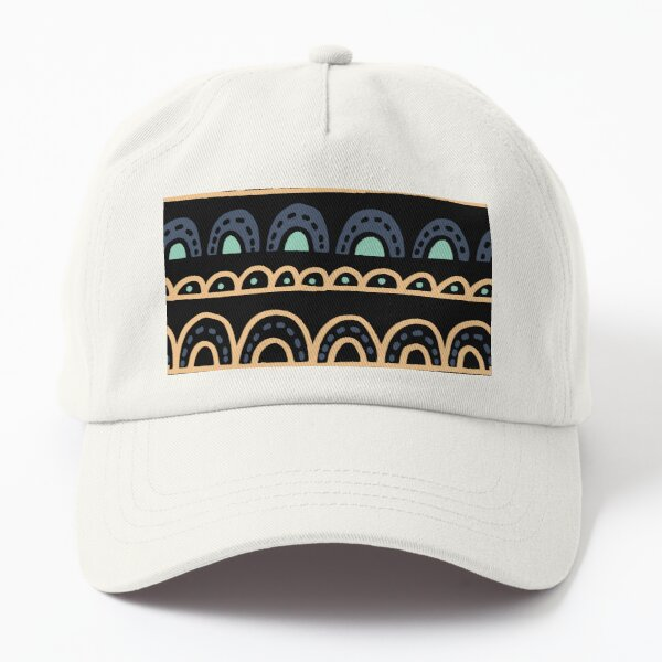 modern curves +repeat pattern arches  Dad Hat