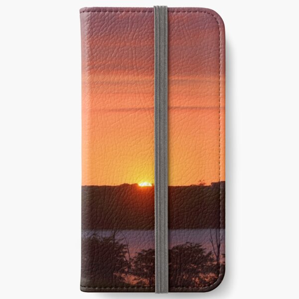 The Final Ember of Day iPhone Wallet