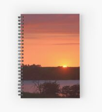 The Final Ember of Day Spiral Notebook