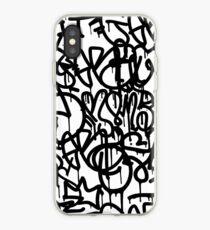 Vinilo o funda para iPhone Graffiti en blanco y negro