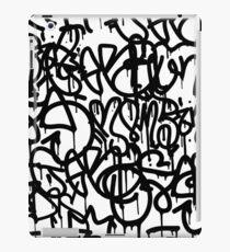 Black and White Graffiti iPad Case/Skin