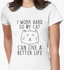 I work hard... Women's Fitted T-Shirt